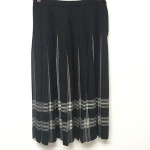 Pendleton 100% Virgin Wool Knife Pleated Skirt